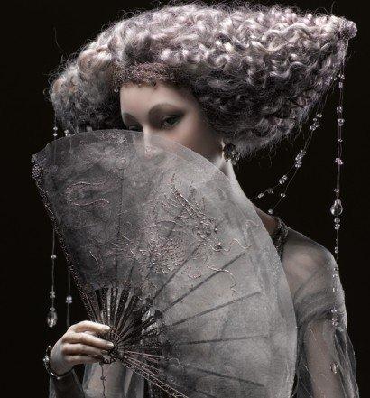 """""""Amaya lluvia noche"""", muñeca hecha a mano por Alexandra Kokinova."""