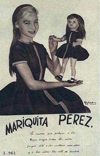 Marisol, con el vestido de Mariquita Pérez