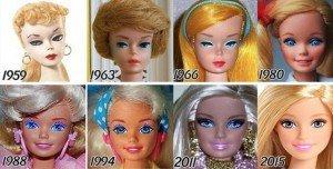Foto rostros de barbie