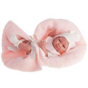 Foto muñeca Olivia bebé con pelele y mantita