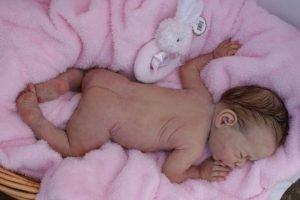 Foto de bebé reborn de silicona. Bebés reborn en adopción.