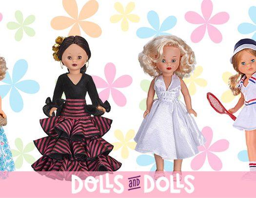 Foto cuatro muñecas Nancy colección de distintos años