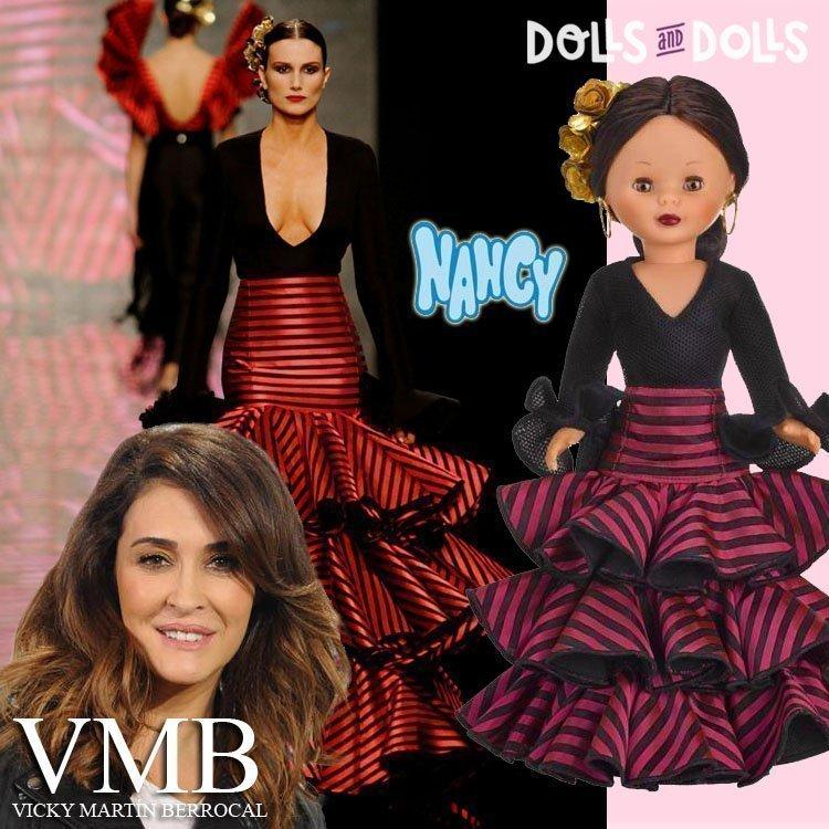 Foto Nancy VMB con Vicky Martín Berrocal y una modelo de pasarela con el mismo vestido