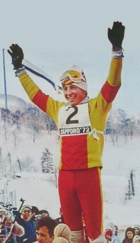Foto de Paquito Fernández Ochoa cuando ganó los juegos olímpicos de 1972