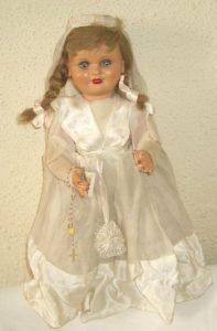 Foto muñeca de Comunión de Cartón Piedra años 40-50