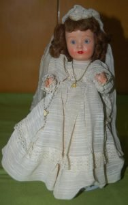 Foto muñeca de Comunión de Cartón Piedra años 40