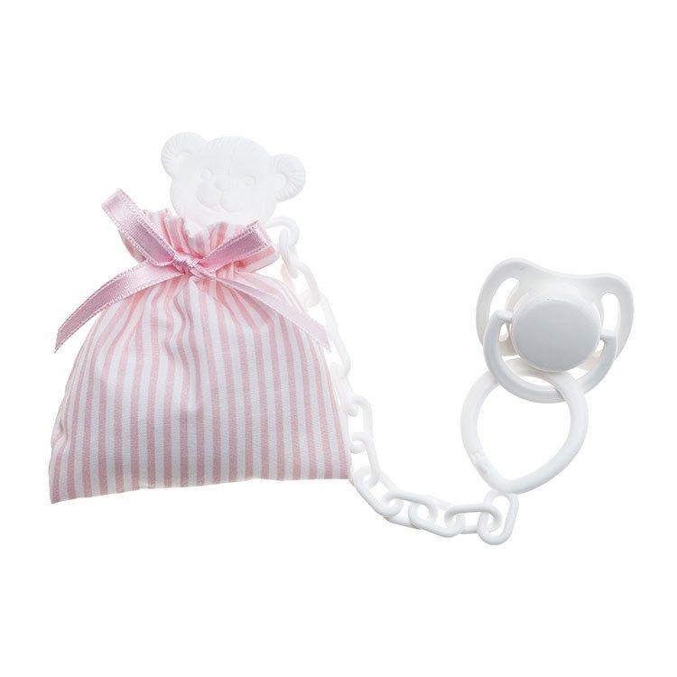 Foto bolsita portachupete rosa para muñecos de la marca de Muñecas Así