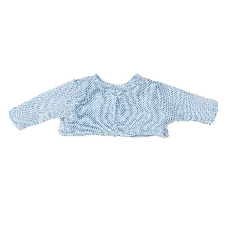 Foto chaqueta de punto celeste para muñecos de 36 centímetros de la marca de muñecas Así