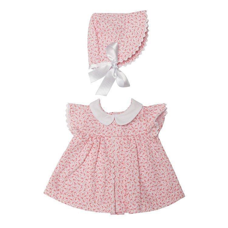 Foto vestido de flores rosas para muñecas de 46 centímetros de la marca de Muñecas Así