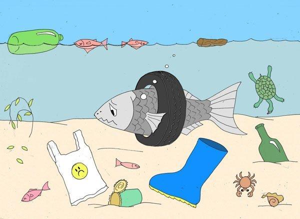 Imagen de playa contaminada - Nancy Playa