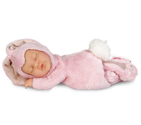 foto muñeco Anne Geddes conejo rosa