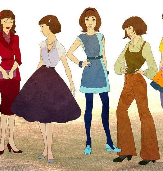 evolicion de la moda muñecas edades