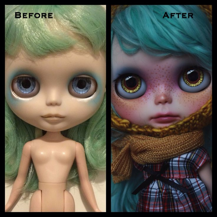 Repaint de una muñeca Blythe