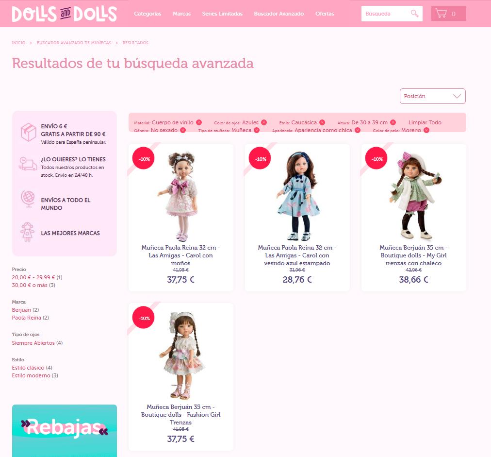 Buscador de Muñecas: Resultados
