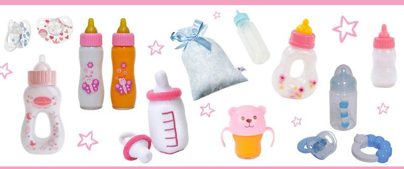 10 Accesorios para muñecas: Biberones y chupetes