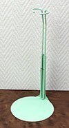 Metal doll stand in pastel-green for Barbie type