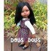 Patrón descargable Dolls And Dolls para muñecas Las Amigas - Vestido de cuadros con blusa