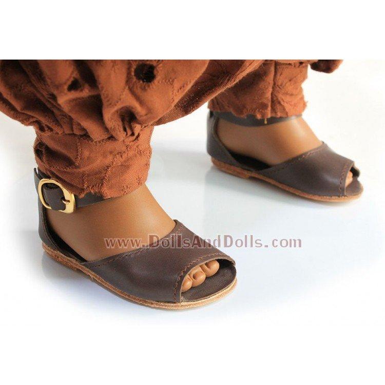 Muñeca D'Nenes 72 cm - Nany con vestido marrón