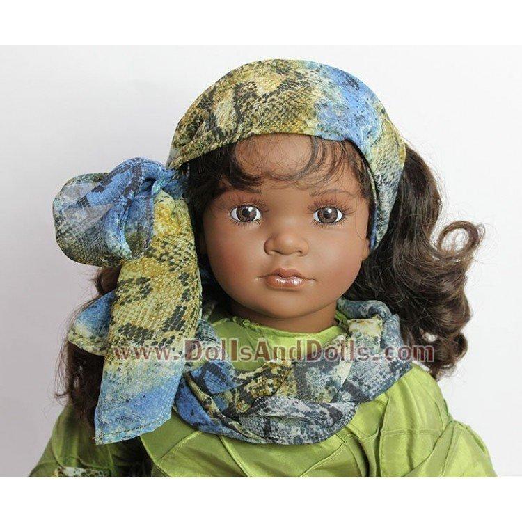 Muñeca D'Nenes 72 cm - Nany con vestido azul-verde