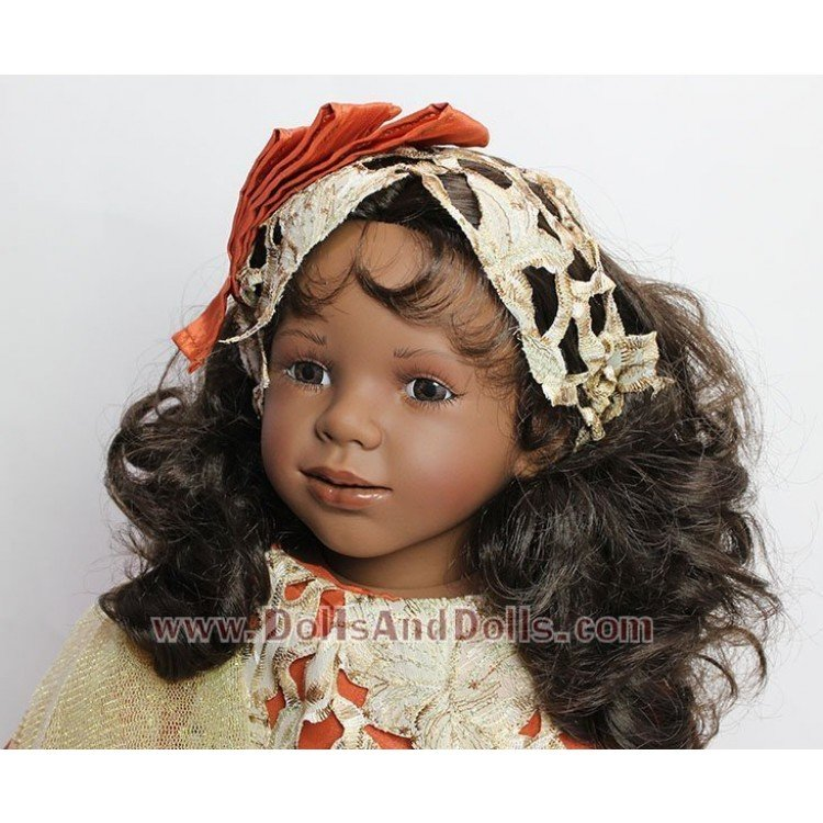 Muñeca D'Nenes 72 cm - Nany con vestido naranja