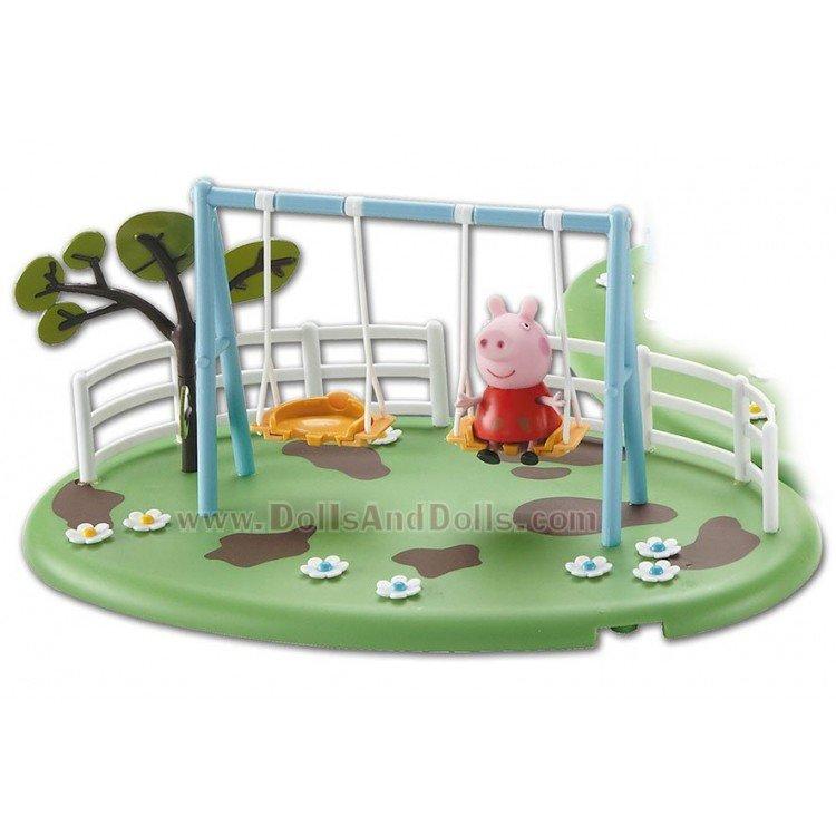 Parque de juegos Peppa Pig  Columpio  DollsAndDolls Muecas de