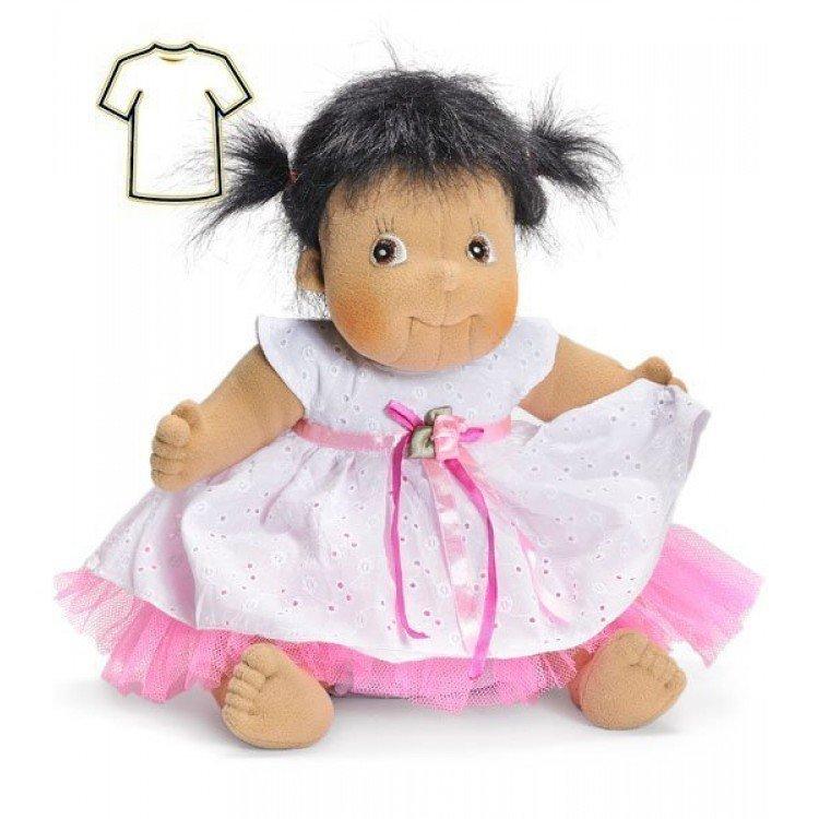 Ropa para muñecas Rubens Barn 38 a 40 cm - Little Rubens y Cosmos - Vestido blanco