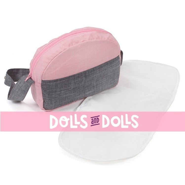Bolso para cochecito de muñecas - Bayer Chic 2000 - Rosa-gris