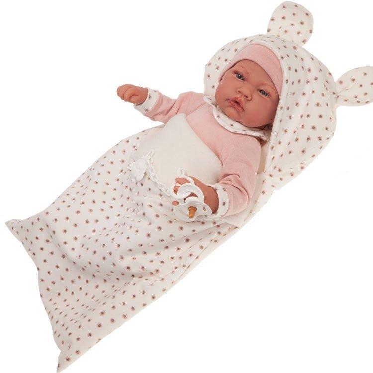 Muñeca Antonio Juan 40 cm - Nacida con saco de dormir