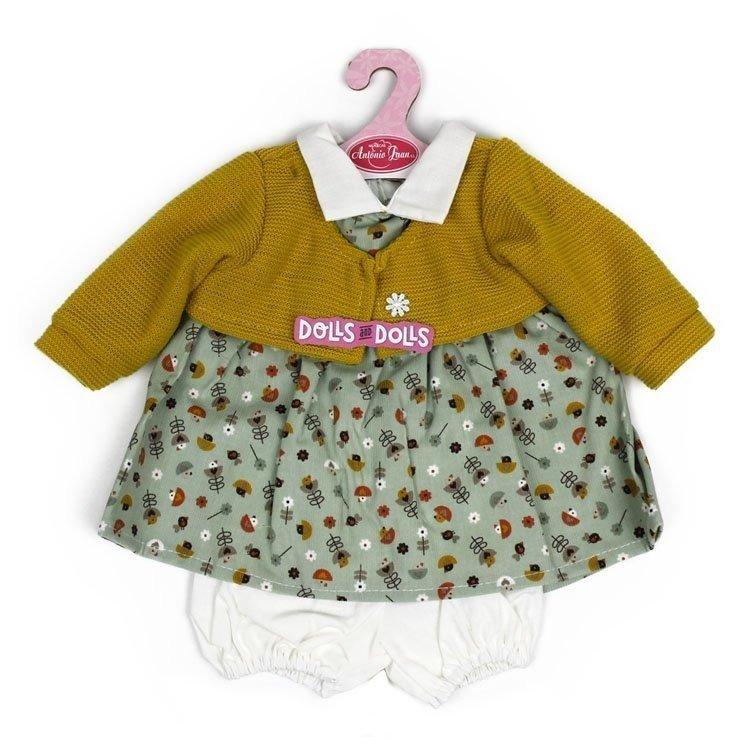 Ropa para muñecos Antonio Juan 40-42 cm - Vestido estampado pajaritos con chaqueta