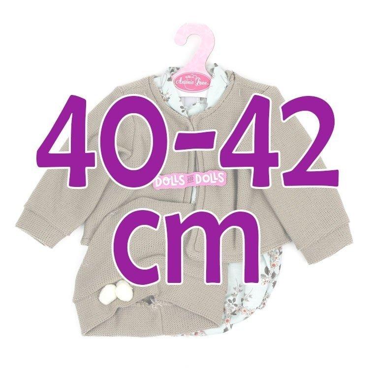 Ropa para muñecos Antonio Juan 40-42 cm - Pelele flores con chaqueta y gorro