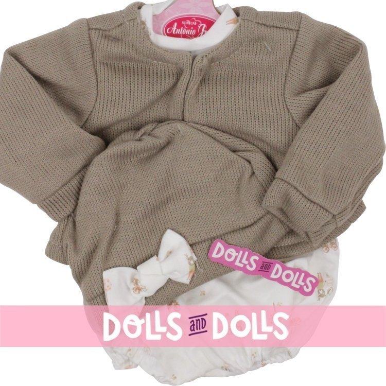 Ropa para muñecos Antonio Juan 40-42 cm - Pelele estampado con chaqueta y gorro