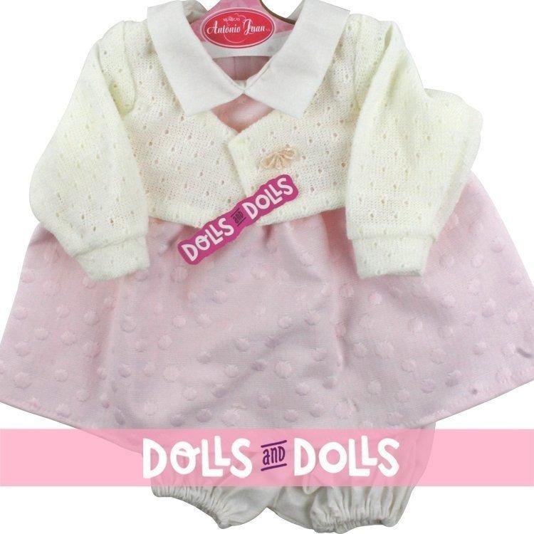 Ropa para muñecos Antonio Juan 40-42 cm - Vestido de lunares rosa con chaqueta