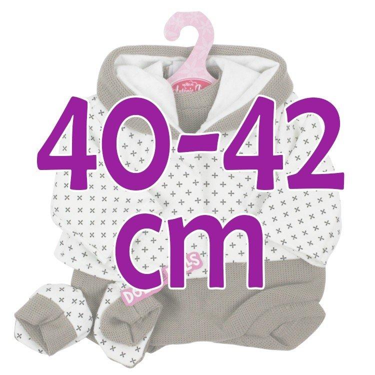 Ropa para muñecos Antonio Juan 40-42 cm - Conjunto marrón con chaqueta estampada y peúcos