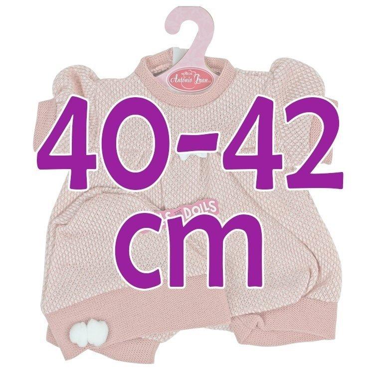 Ropa para muñecos Antonio Juan 40-42 cm - Pelele rosa con gorro