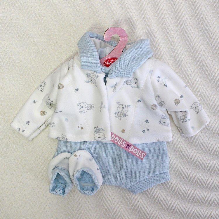 Ropa para muñecos Antonio Juan - Pelele azul con chaqueta y peucos 40-42 cm