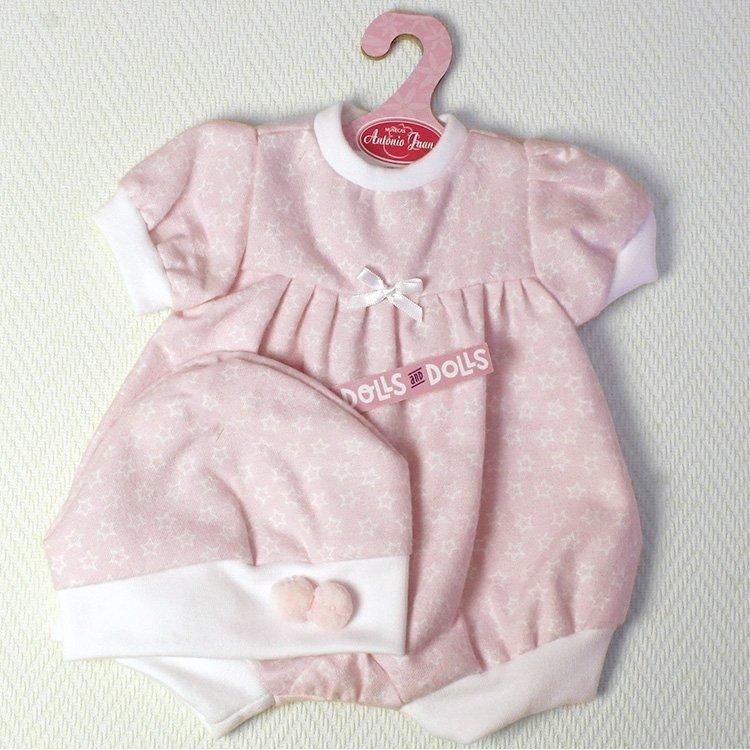 Ropa para muñecas Antonio Juan 40-42 cm - Ranita rosa estampado estrellas con gorro