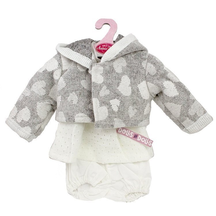 Ropa para muñecos Antonio Juan 40-42 cm - Conjunto chaqueta corazones