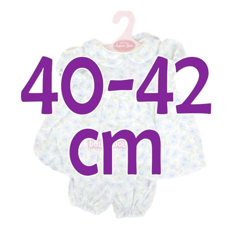 Ropa para muñecos Antonio Juan 40-42 cm - Conjunto estampado de flores azules