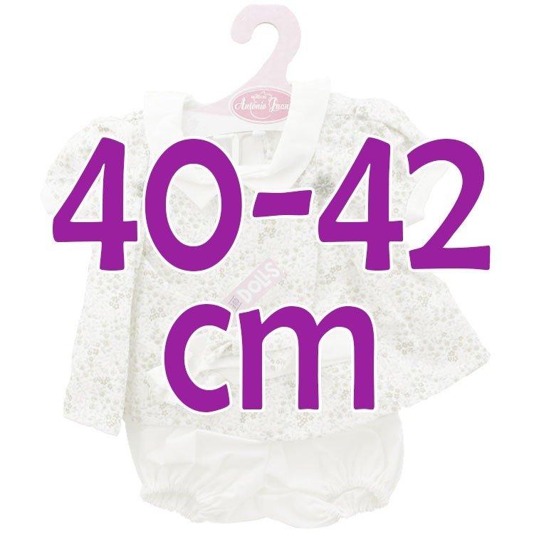 Ropa para muñecos Antonio Juan 40-42 cm - Vestido estampado flores con diadema