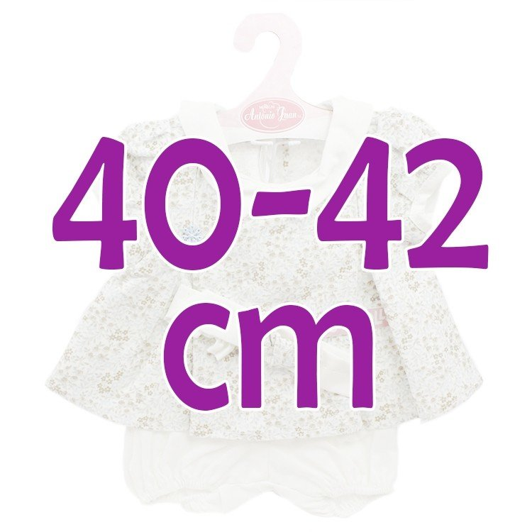 Ropa para muñecos Antonio Juan 40-42 cm - Conjunto estampado de flores con diadema
