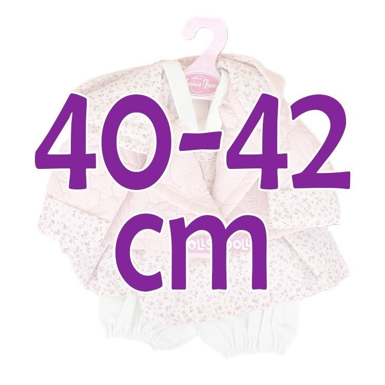 Ropa para muñecos Antonio Juan 40-42 cm - Conjunto estampado de flores con chaqueta acolchada