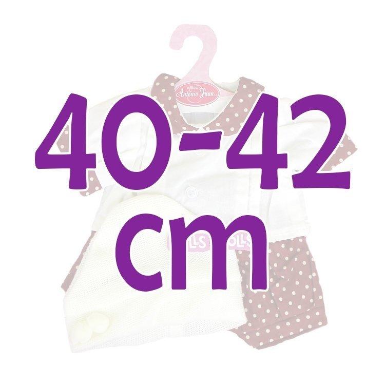 Ropa para muñecos Antonio Juan 40-42 cm - Conjunto estampado de puntos con gorro