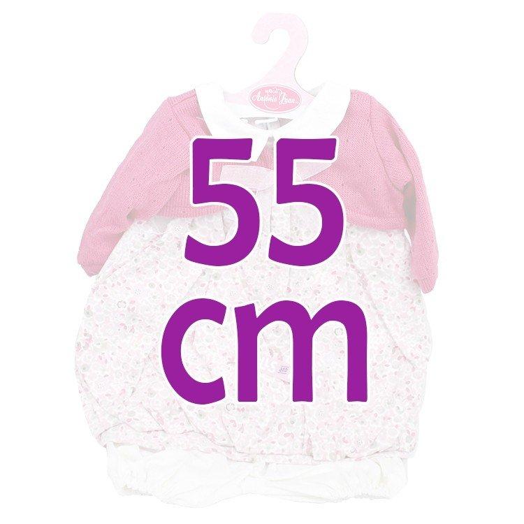 Ropa para muñecos Antonio Juan 55 cm - Conjunto estampado con chaqueta frambuesa