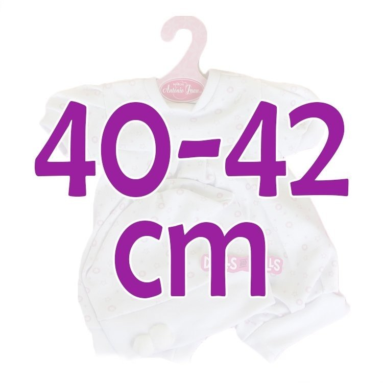 Ropa para muñecos Antonio Juan 40-42 cm - Conjunto estampado de estrellas con gorro