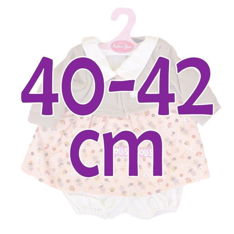 Ropa para muñecos Antonio Juan 40-42 cm - Conjunto estampado con chaqueta marrón