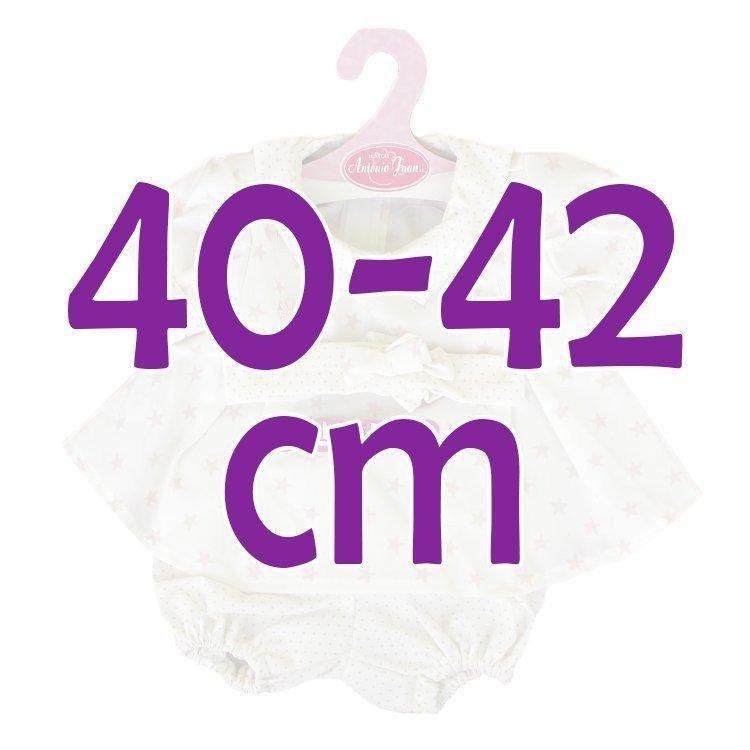 Ropa para muñecos Antonio Juan 40-42 cm - Conjunto estampado de estrellas y puntos con diadema