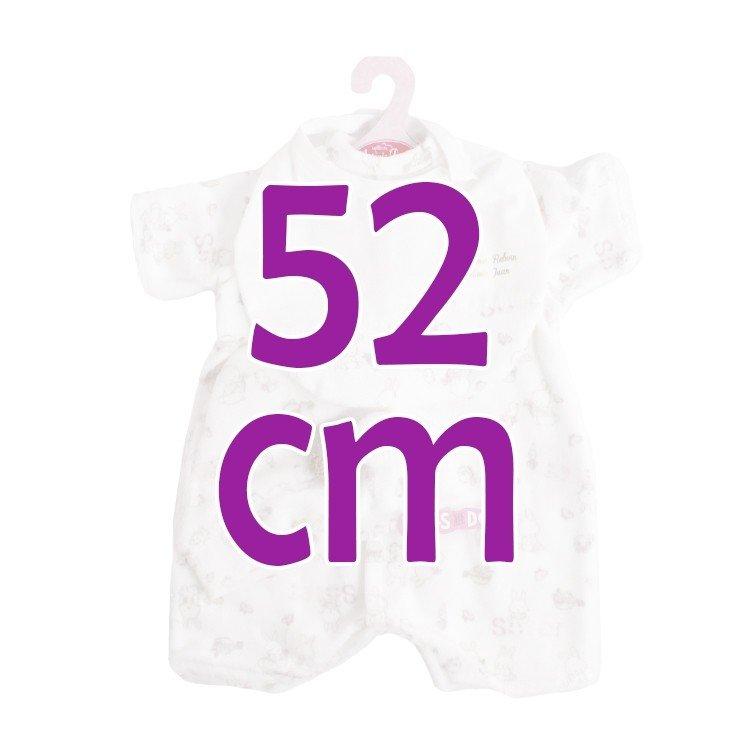 Ropa para muñecos Antonio Juan 52 cm - Colección Mi Primer Reborn - Pijama estampado conejos con gorro y pechito