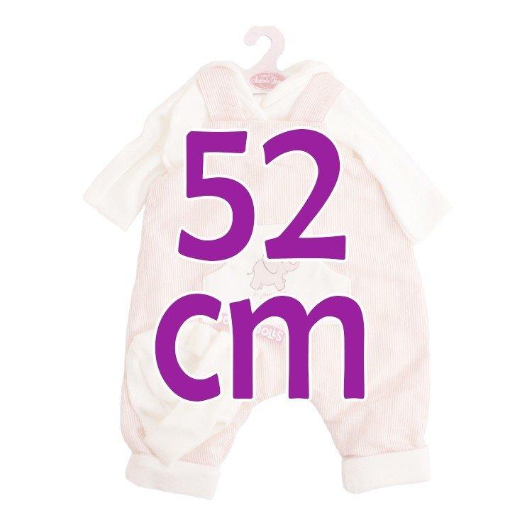 Ropa para muñecos Antonio Juan 52 cm - Colección Mi Primer Reborn - Pijama rayas rojo con gorro