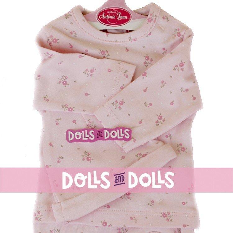 Ropa para muñecos Antonio Juan 40 - 42 cm - Colección Sweet Reborn - Pijama rosa de flores con gorro