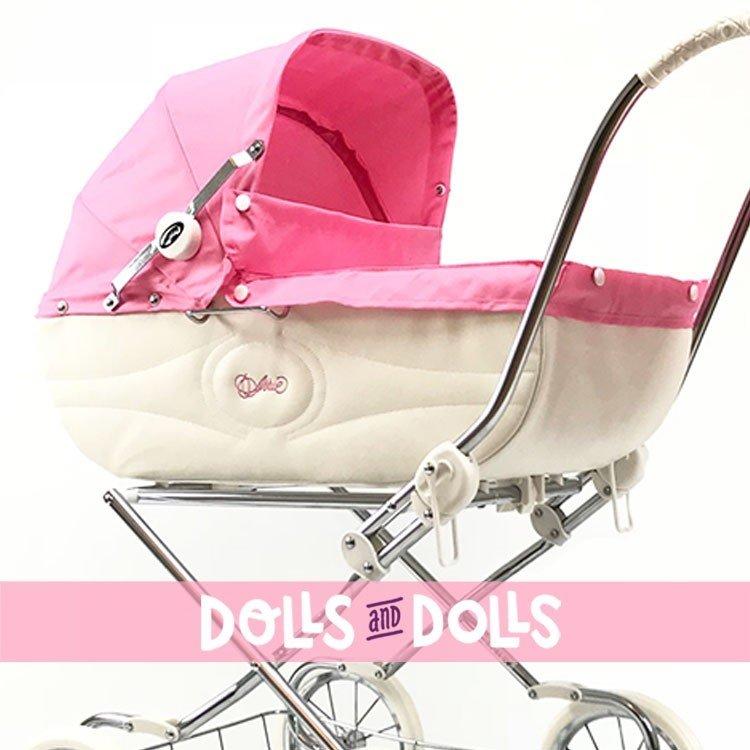 Cochecito Arrue 90 cm para muñecas - Princess Jr - Rosa